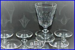 10 VERRES A VIN CRISTAL ANCIEN SAINT LOUIS modèle CATON déco table VITRINE