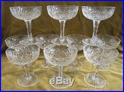 10 coupes champagne 12cl cristal Saint Louis mod Gavarni crystal champagne cups