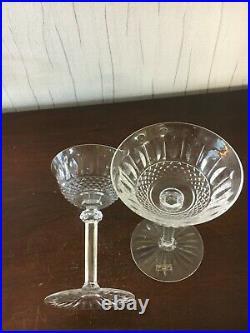 12 Coupes à champagne modèle Tommy en cristal de Saint Louis (prix à la pièce)