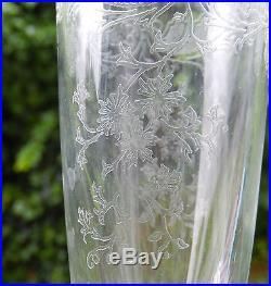 12 Splendide Flute Champagne Cristal Signe St Louis Clichy Feuillage Guirlande