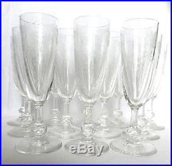 12 Splendide Flute Coupe De Champagne Signe Saint Louis Cristal Grave Guirlande