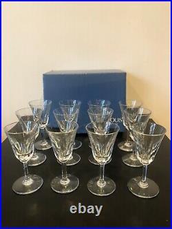 12 Verre à vin de bordeaux en Cristal Saint Louis modèle Cerdagne