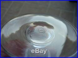 12 Verres Tailles A Eau Cristal Saint Louis Caton H 14.2 CM Taille Cotes Plates