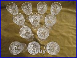 12 Verres à vin 6,5cl cristal Saint Louis mod Gavarni (crystal wine glasses)