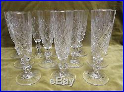 12 flutes à champagne cristal Saint Louis etoiles (crystal champagne flutes)