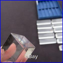 12 porte couteaux en cristal de saint louis tous signé