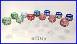 12 verres vin Rhin Roemers cristal Saint-Louis couleur modèle Riesling XXè