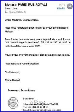 1961 MODÈLE ARLES SUBLIME 10 VERRES CRISTAL SAINT LOUIS DORÉ (Thistle)