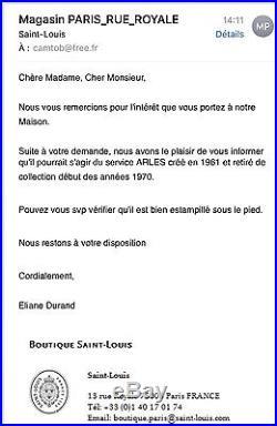 1961 SUBLIME 11 VERRES À EAU CRISTAL SAINT LOUIS DORÉ MODÈLE ARLES (Thistle)