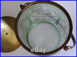 1 Ancien Seau A Biscuit Cristal Vert De St Louis Decor Empire Degage A L'acide