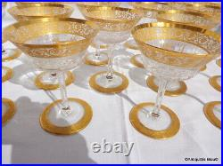 1 Coupe à champagne en Saint St Louis Cristal Thistle Or signé parfait état