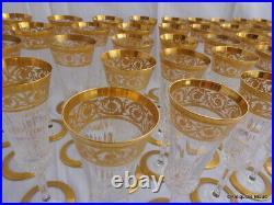 1 Flûte à champagne en Saint St Louis Cristal Thistle Or signé parfait état