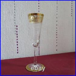 1 flute en cristal de saint louis modèle thistle signé H 18,7 cm