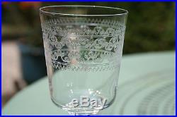 1o Verres A Eaux En Cristal De Baccarat Ou St Louis XIX Siecle