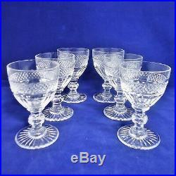 2 Série 6 verres à vin blanc cristal taillé Saint Louis modèle Trianon