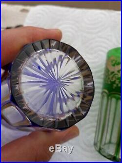 2 gobelet verre a thé cristal de Saint-Louis rabat
