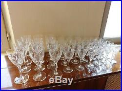 36 verres en cristal saint louis modèle chantilly