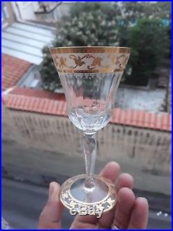 3 Verres À Bordeaux en Cristal de Saint-Louis modèle Callot