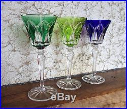 3 roemer / verres du rhin Camargue cristal saint louis. Couleur Overlay, double