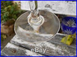 4 anciens verres en cristal Taillé St Louis Baccarat couleur double bleu