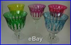5 grands verres tommy saint louis (no lalique baccarat)