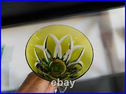 5 verres à vin ROEMER cristal SAINT LOUIS modèle Camargue couleur
