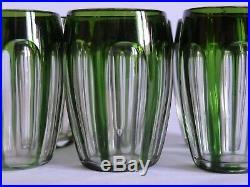 6 Anciens Verres A Liqueur Cristal Taille De St Louis Couleur Vert