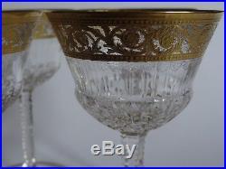 6 Anciens Verres Cocktail Aperitif Cristal De Saint Louis Modele Thistle Gold