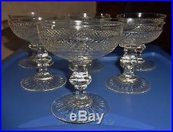 6 Belles Et Anciennes Coupe A Champagne Verre Cristal Saint Louis Modele Trianon