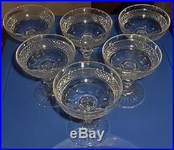 6 belles et anciennes coupe a champagne verre cristal saint louis modele trianon verres. Black Bedroom Furniture Sets. Home Design Ideas