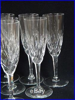 6 fl tes champagne en cristal de saint louis mod le monaco verres cristal st louis. Black Bedroom Furniture Sets. Home Design Ideas