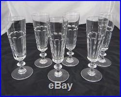6 Flutes A Champagne En Cristal De Saint Louis Modele Caton Signe