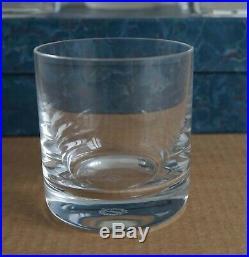 6 Gobelets à Whisky Cristal de Saint-Louis, avec le coffret. Model Saint Tropez