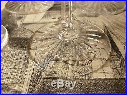 6 Grands Verres Roemer en cristal taillés St Louis modèle Tommy tous estampillés