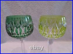 6 Roemers cristal overlay saint louis (6 roemer crystal rhine glasses) n58