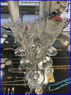 6 Superbe Verre À Vin Rouge Cristal Taille Signé Saint Louis Modèle Chantilly
