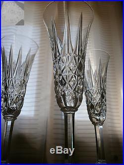 6 Superbes Flutes A Champagne En Cristal St Louis Estampillees Parfait Etat