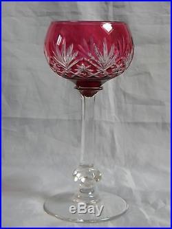 6 verres vin du rhin en cristal de saint louis mod le massenet verres cristal st louis. Black Bedroom Furniture Sets. Home Design Ideas