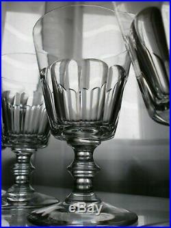 6 Verres A Vin En Cristal St Louis Modele Caton Signes