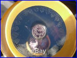 6 Verres A Vin Roemer Couleur En Cristal St Louis Thistle Decor Or Gold Signes