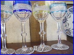 6 verres ancien cristal double a vin blanc saint louis verres cristal st louis - Cristal st louis ancien ...
