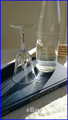 6 Verres Cerdagne cristal Saint Louis. N°2 H17,8cm