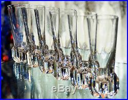 6 verres gobelets eau vin cristal taille baccarat st louis sign e art deco verres cristal. Black Bedroom Furniture Sets. Home Design Ideas