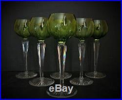 6 Verres à vin blanc roemer cristal saint louis, val saint lambert, baccarat