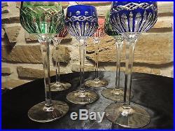6 verres vin du rhin roemer en cristal doubl de saint louis traminer verres cristal st louis. Black Bedroom Furniture Sets. Home Design Ideas