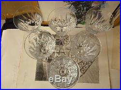 6 Verres à vin en cristal taillés St Louis modèle Provence tous estampillés