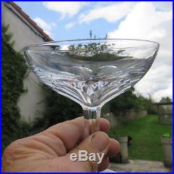 6 coupes à champagne en cristal de saint louis modèle bristol ou baccarat genova