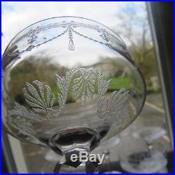 6 coupes à champagne en cristal gravé de saint louis modèle Anvers 2