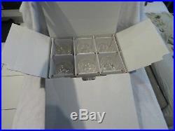 6 coupes champagne cristal Saint Louis Massenet Boite crystal champagne cups