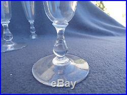 6 flûtes à champagne en cristal de lorraine Saint Louis ou daum